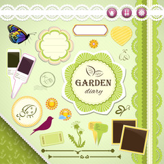 Scrapbooking Set: My Garden Diary