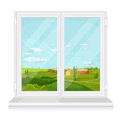 Vector window flat illustration