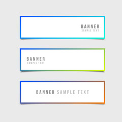 Minimal Style Vector banners set