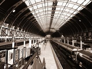 Aluminium Prints Train Station Paddington Station