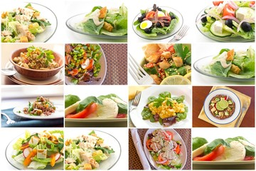 Healthy Salad Collage