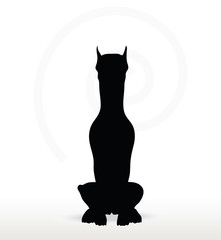 dog silhouette in sitting pose