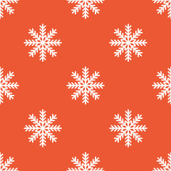 Orange snowflake pattern