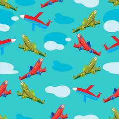 aircraft in flight seamless pattern