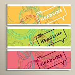 Vector banner color line. Circle design eps