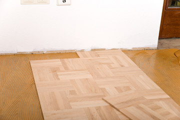 Printed roller blinds Stairs Parkett verlegen
