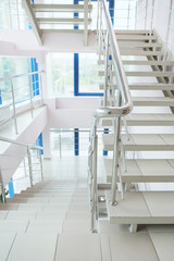 The image of staircase in modern building