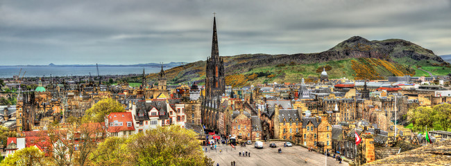Panorama of Edinburgh from the castle - Scotland