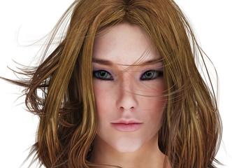 Render Woman Portrait