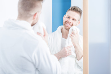 Man after shower