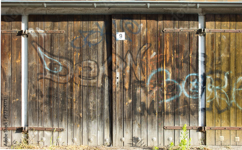 Old Wooden Garage Door Stock Photo And Royalty Free Images On
