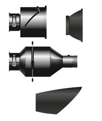 Spots Projektor Reflektoren für Kompaktblitze und Generator Bli