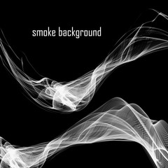 Abstract smoke isolated on black. Vector illustration. Eps 10