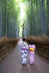 Geisha im Bambuswald