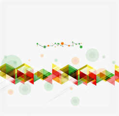Clean colorful unusual geometric pattern design