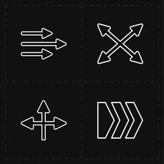 4 flat modern arrows