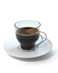 cup of coffee white background