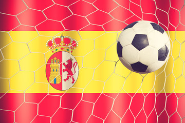 Spain soccer ball vintage color