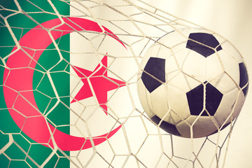 Algeria soccer ball vintage color