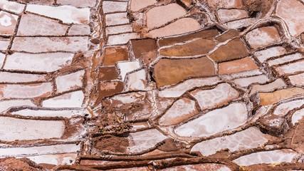 salinas de maras near cuzco on a sunny day