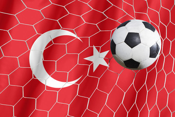 Turkey symbol soccer ball