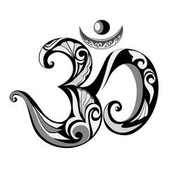 Om Hindu symbol.