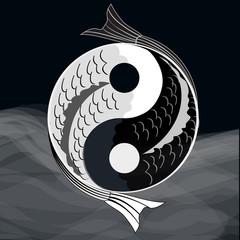 Yin yang symbol.Vector.