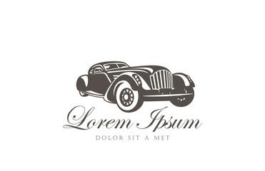 Retro Car Logo abstract design vector template...Vintage vehicle
