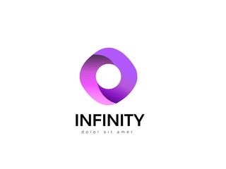 Infinity abstract logo design. Creative business icon. Vector idea logotype.