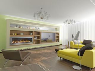 Modern interior room