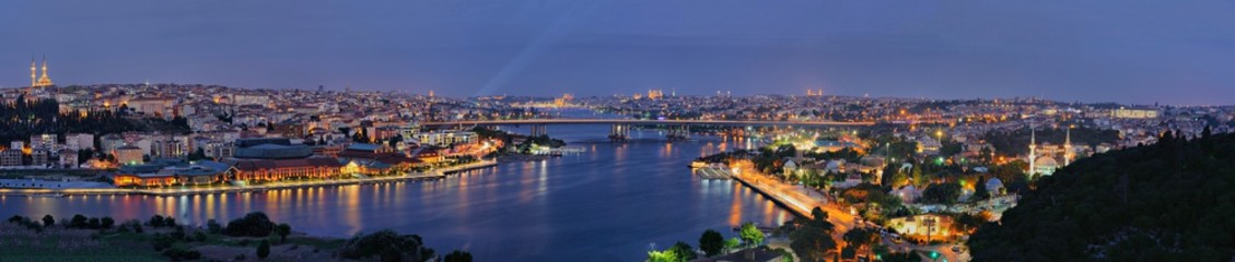 Golden Horn panorama from Pierre Loti, Istanbul, Turkey