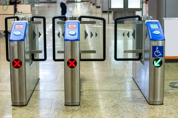 Entrance of metro railway station for cripple.