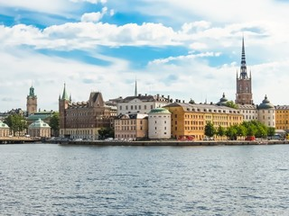 Panoramic view of the Old City. Stockholm, Sweden