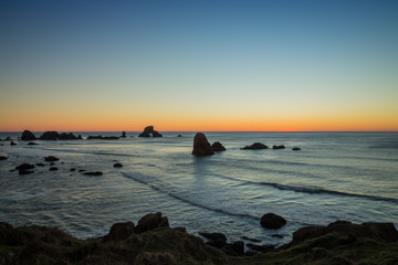 Sunset from above Ecola State Park on the Oregon Coast