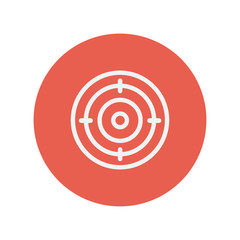 Target board thin line icon