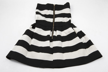 Dress in black and white stripes