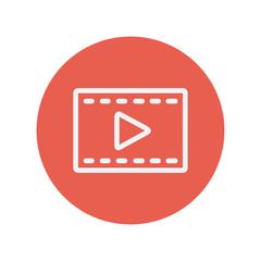 Film strip with arrow