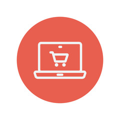 On-line shopping thin line icon