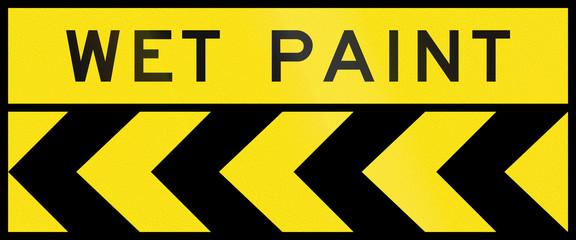 Chevron Alignment To The Left - Wet Paint In Australia