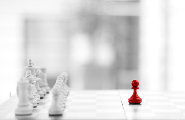 Chess, business concept success & stratefy