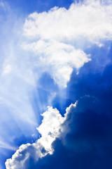 Cloud with sunbeams