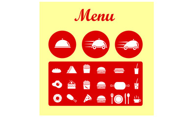 Food - Fast Food Restaurant Icon Set Clipart
