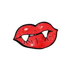 cartoon vampire lips