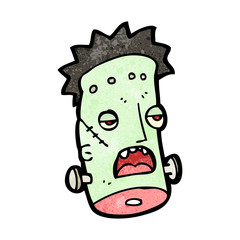 cartoon frankenstein monster,head