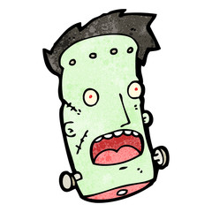 cartoon frankenstein monster,head