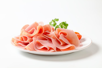 Thinly sliced ham