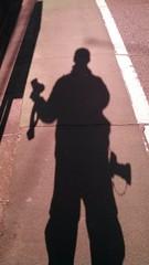 カメラマンの影