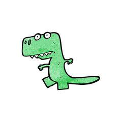 cartoon little dinosaur