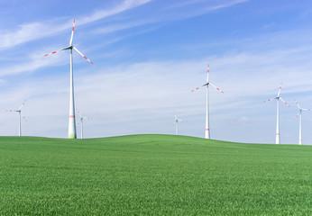 Windpark in Ostdeutschland