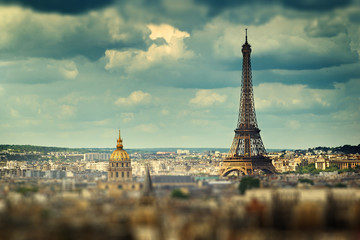 Eiffel Tower (tilt shift effect), Paris, France